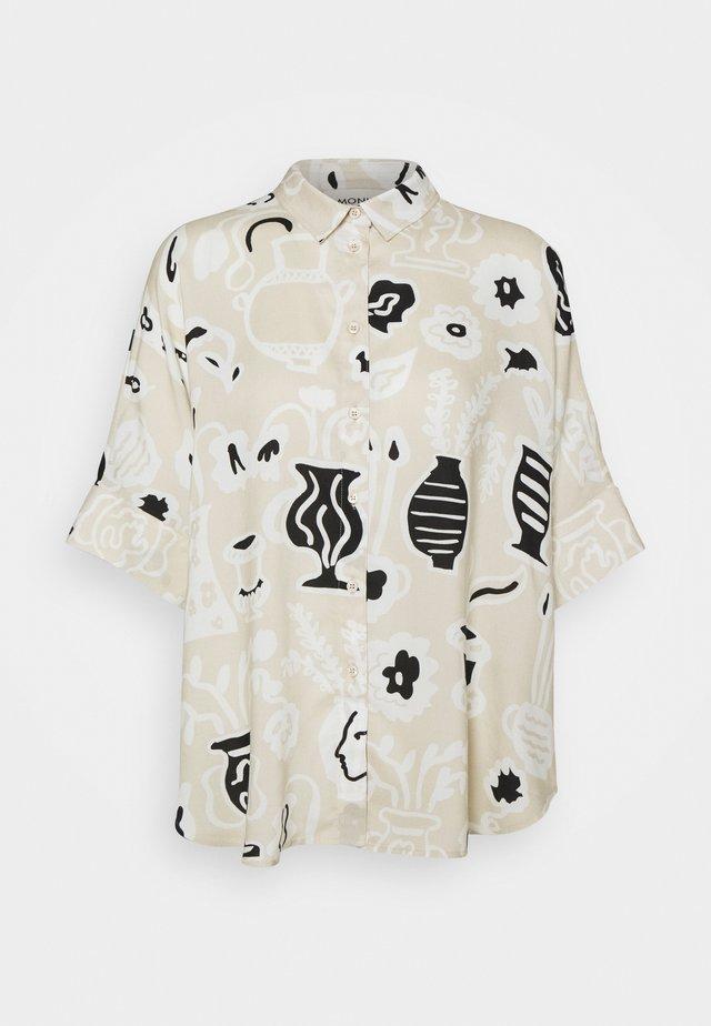 LUCA BLOUSE - Camisa - beige