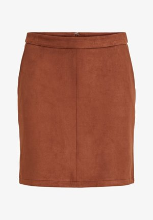 A-line skirt - tobacco brown