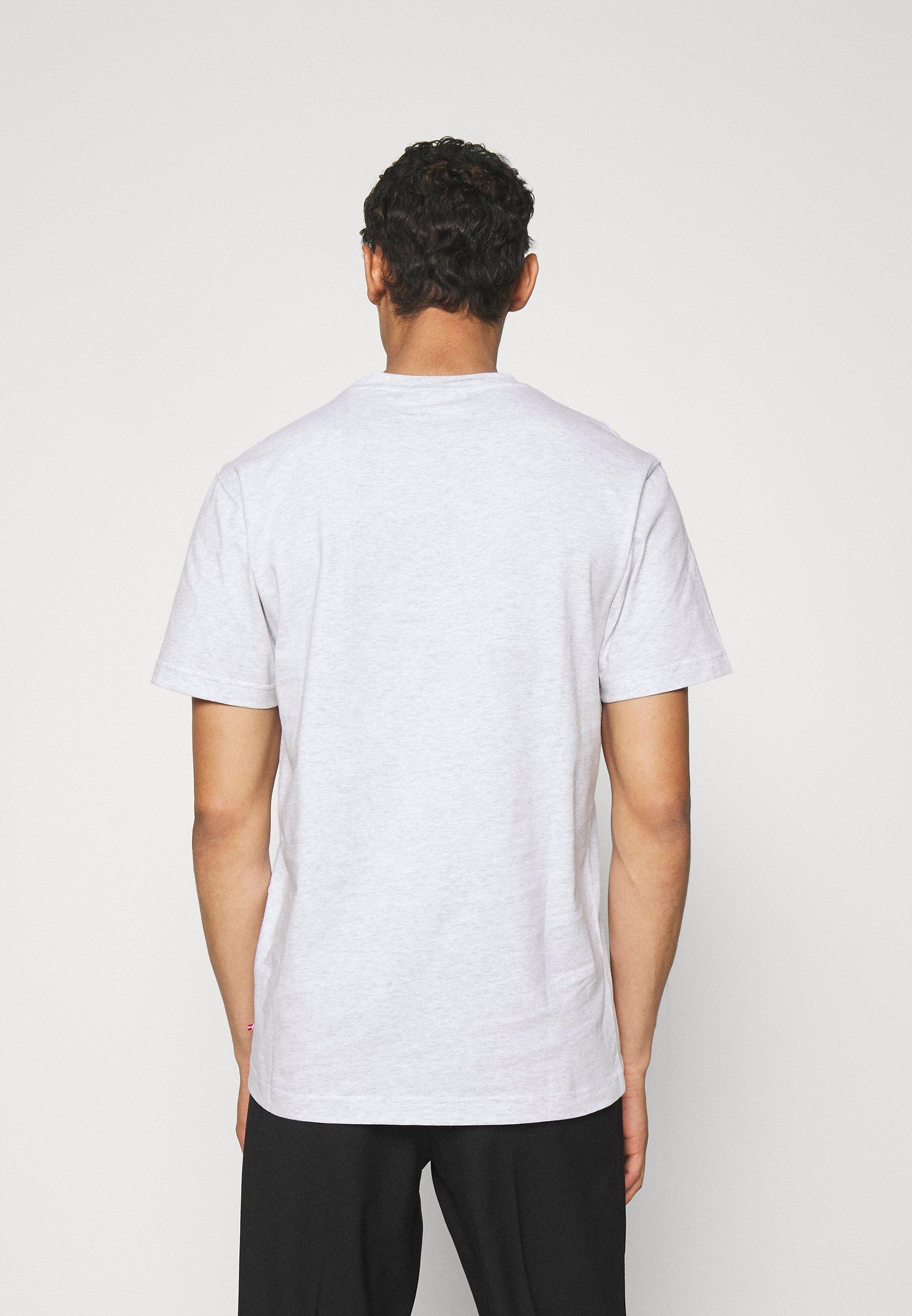 Men CASUAL TEE SHORT SLEEVE - Basic T-shirt - light grey melange