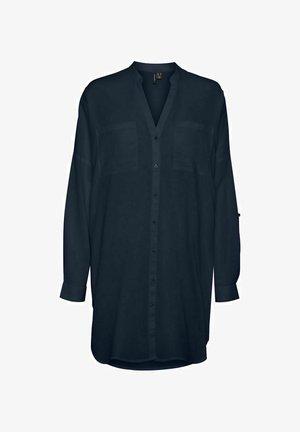 MIT LANGEN ÄRMELN V-AUSSCHNITT - Blouse - navy blazer