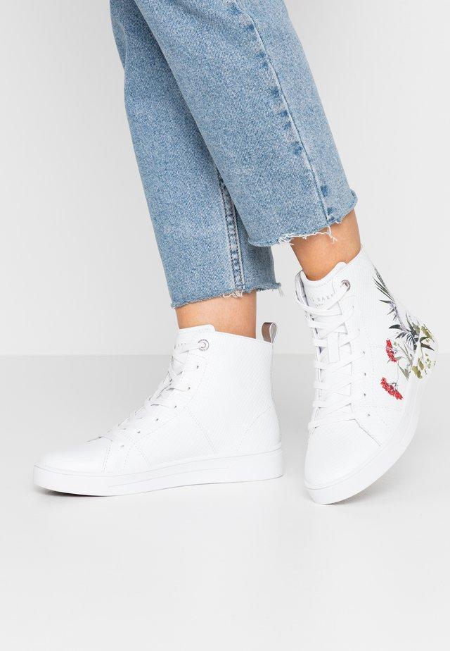 ZEREL - Baskets montantes - white
