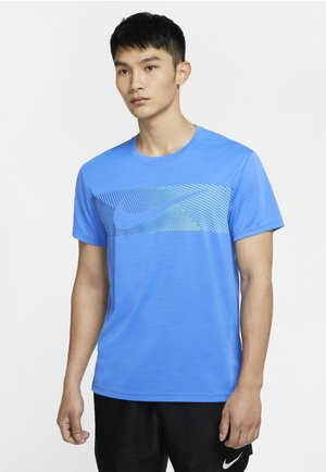 T-shirts print - pacific blue/pacific blue/black