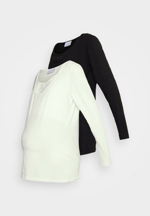 MLLEA 2 PACK - Long sleeved top - black/white