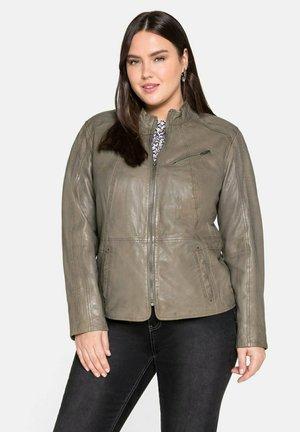 Leather jacket - hellkhaki
