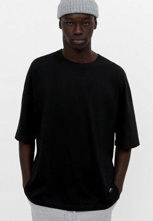 2 PACK - OVERSIZED - T-shirt - bas - black/white