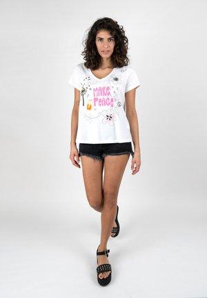MAKE PEACE - Print T-shirt - white