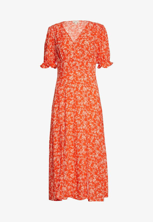 MIDI DITSY TEA DRESS - Day dress - red