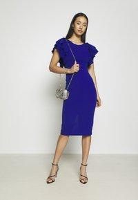 WAL G. - KENSLEY RUFFLE SLEEVE DRESS - Day dress - electric blue - 1