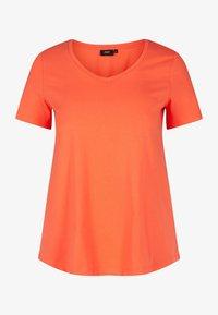 Zizzi - Basic T-shirt - coral - 3