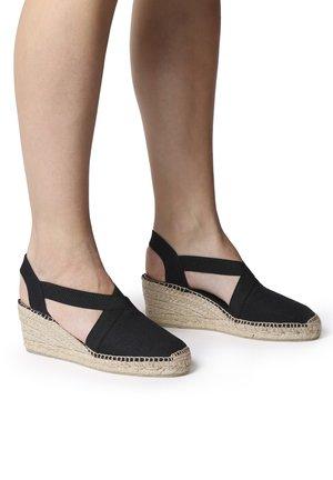 TER - Wedge sandals - black