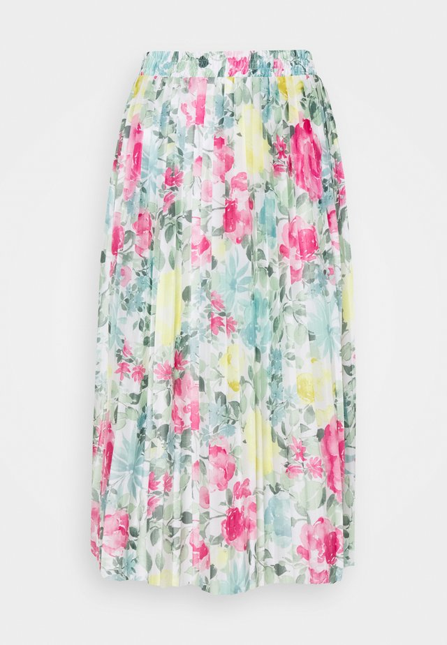 VIORLANDA MIDI SKIRT - Minirok - cloud dancer/water flower