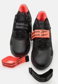 Reebok - LEGACY LIFTER II - Sports shoes - black/orange fluo/true grey - 5