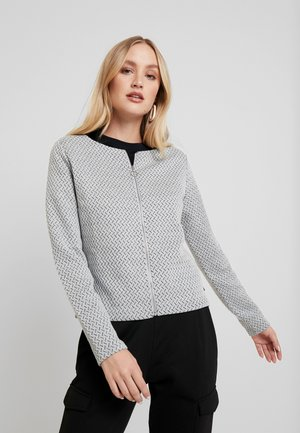 LANGARM - Kardigan - mottled grey
