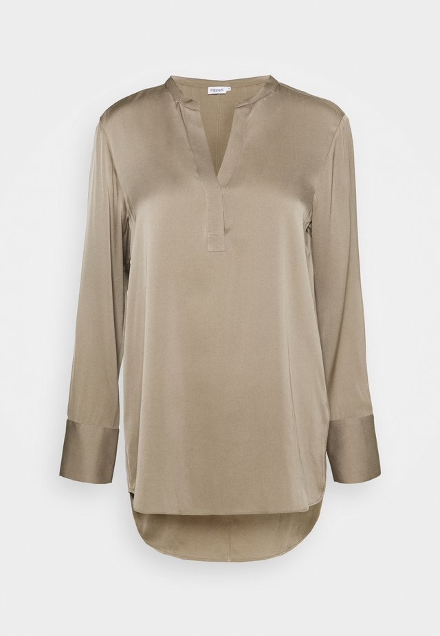 PULL-ON BLOUSE - Blusa - grey taupe