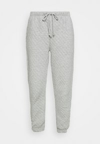 Topshop - QUILTED JOGGER - Tracksuit bottoms - grey - 3