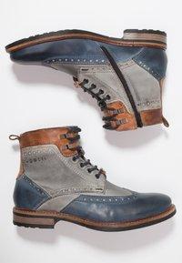 Bugatti - MARCELLO - Lace-up ankle boots - dark blue/grey - 1