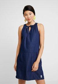 Q/S designed by - Denim dress - dark blue denim - 0