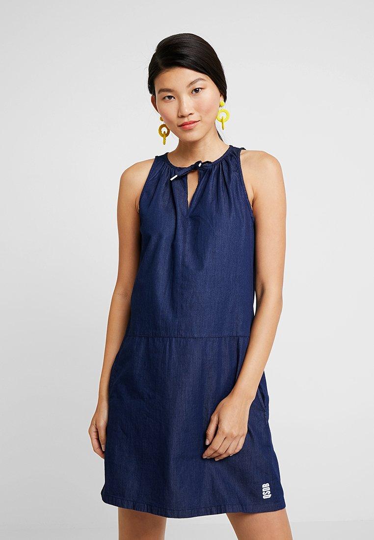 Q/S designed by - Denim dress - dark blue denim