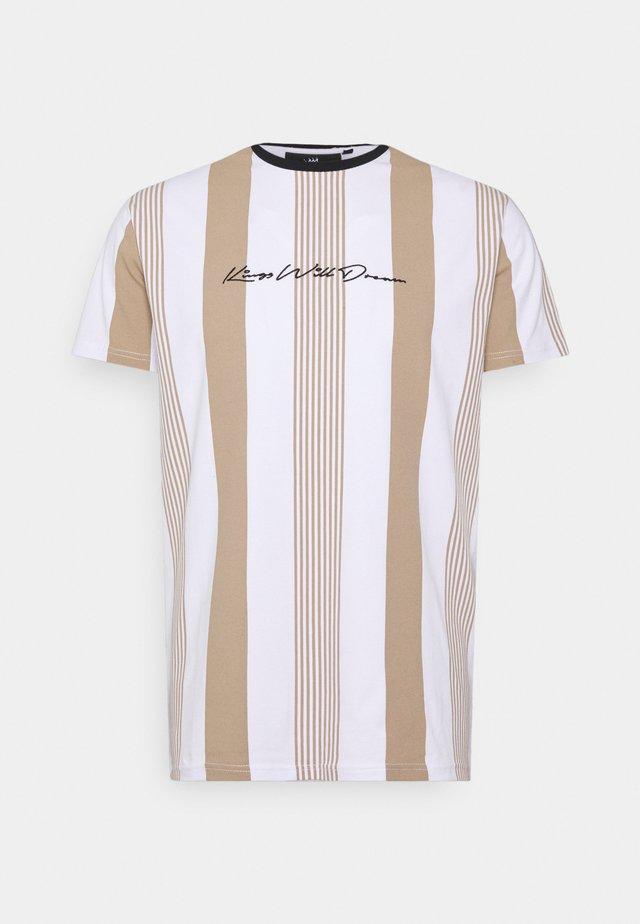 VEDLO TEE - T-shirt imprimé - stone