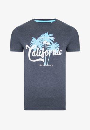 Print T-shirt - denim marl