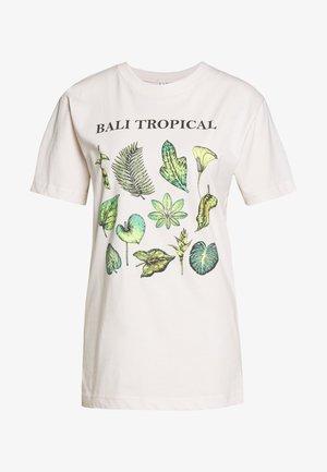 LADIES BALI TROPICAL TEE - Print T-shirt - beige