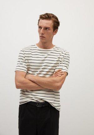 T-shirt z nadrukiem - ecru