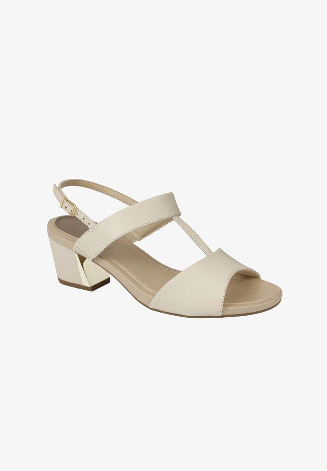 MIT RIEMEN ARETHA - Sandals - weiß