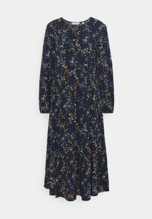 PRINTED MIDI DRESS - Košilové šaty - blue