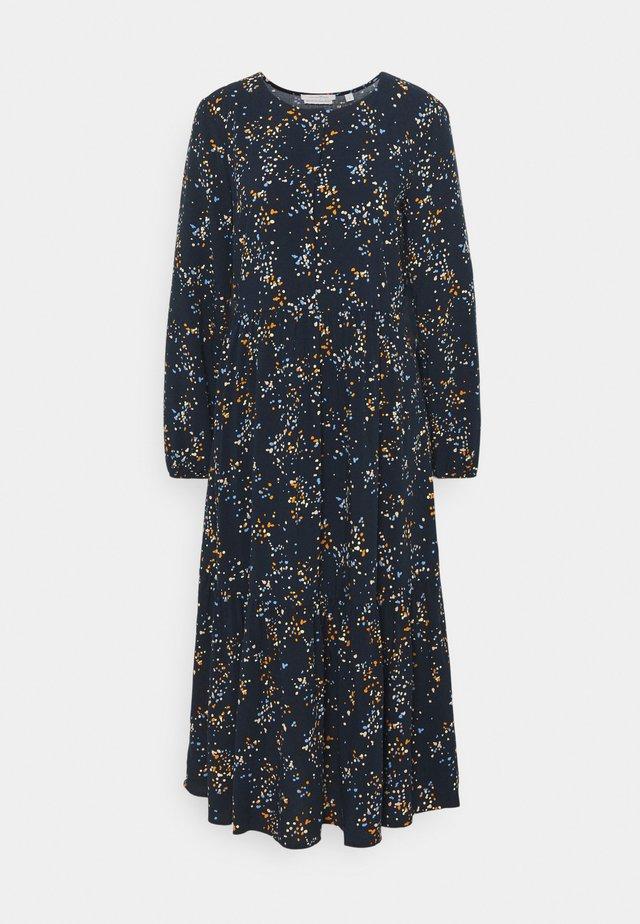 PRINTED MIDI DRESS - Shirt dress - blue