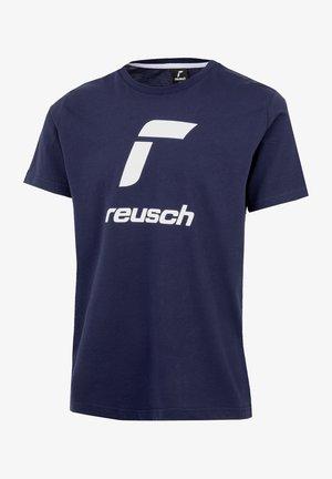 ESSENTIALS - Print T-shirt - dark blue/white