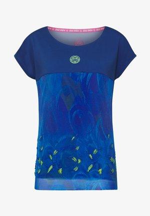 TIJANA TECH TEE - Print T-shirt - dark blue