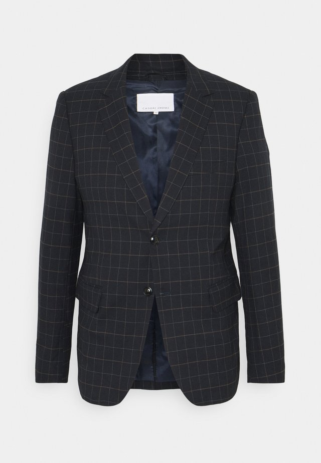CHECKED SUIT - Giacca - navy blazer
