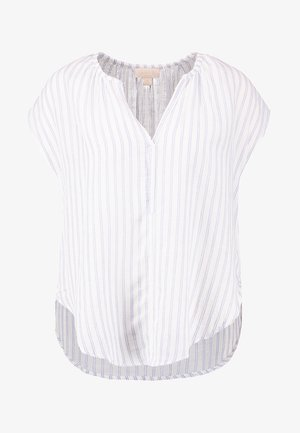 V NECK - Pyjamasoverdel - blue/white