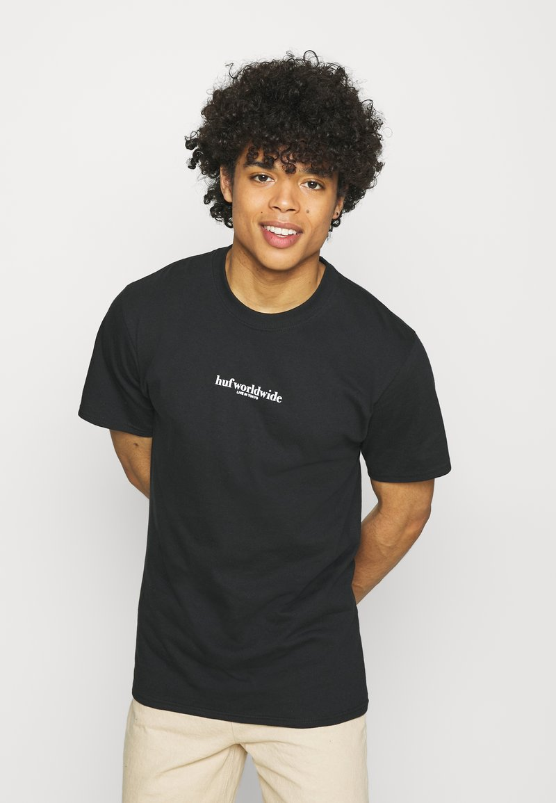 HUF - NEVER YOURS TEE - Print T-shirt - black