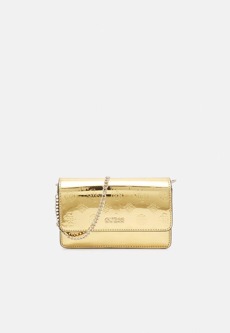 Guess - WALK OF FAME MINI XBODY FLAP - Across body bag - gold