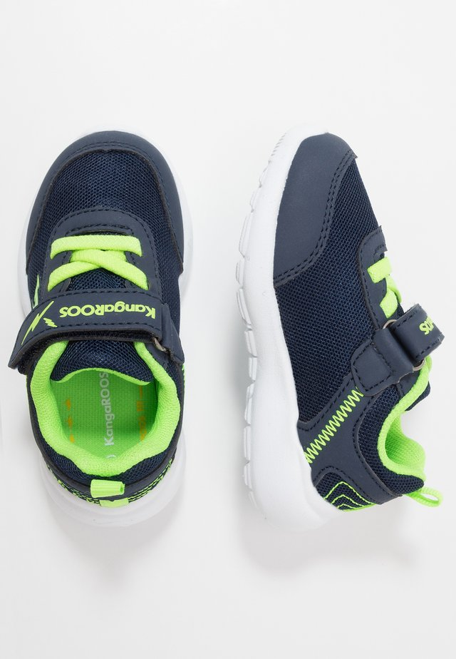 KY-FLIGHT EV - Sneakers laag - dark navy/lime