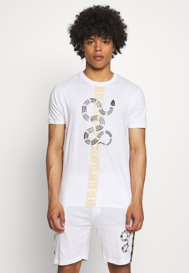 SNAKE PRINTED SET - T-shirt print - white