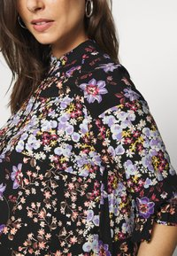 Pieces Maternity - PCMBECCA DRESS - Vestido camisero - black/purple - 4