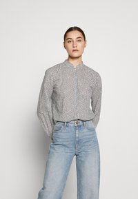 Marc O'Polo - BLOUSE STAND UP COLLAR  - Camisa - soft white - 0