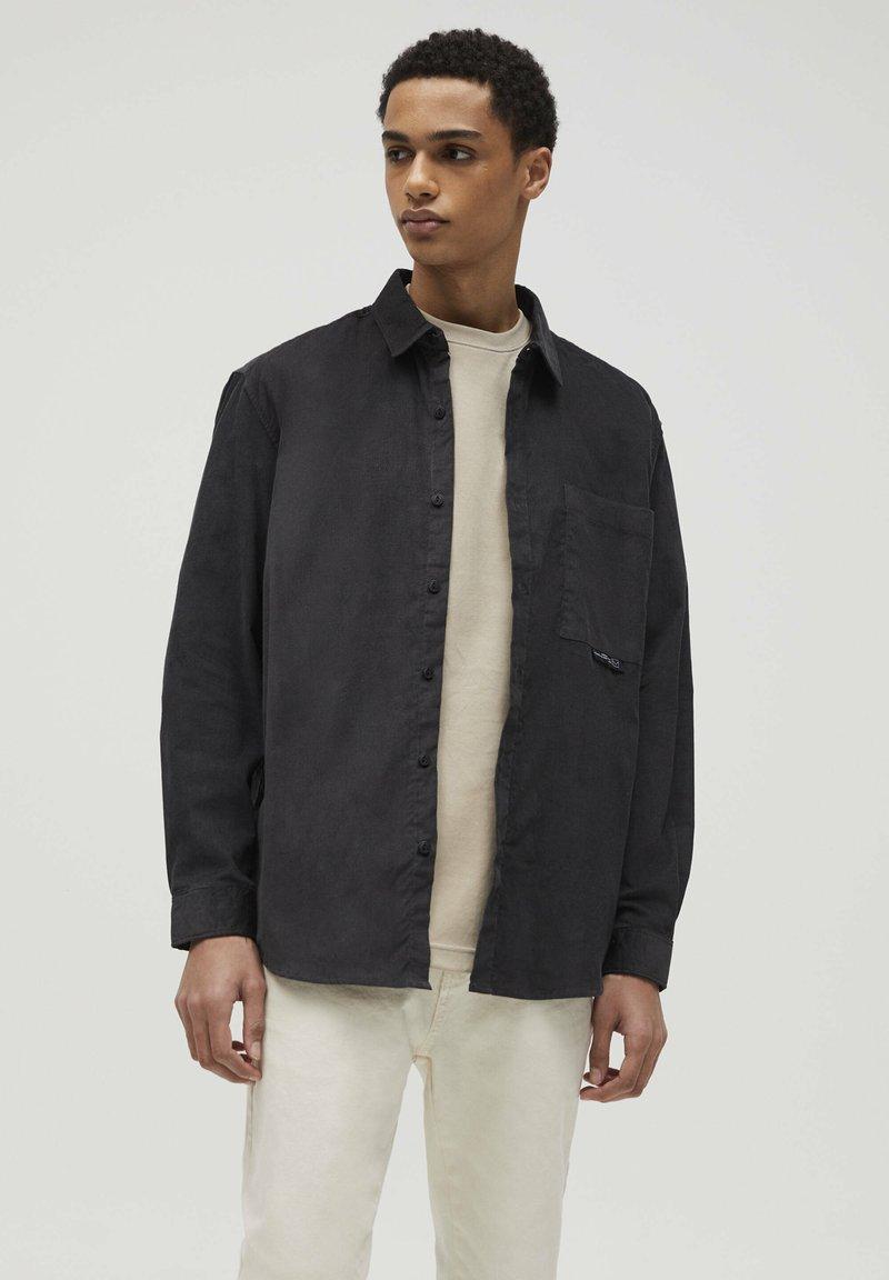 PULL&BEAR - Camicia - mottled dark grey
