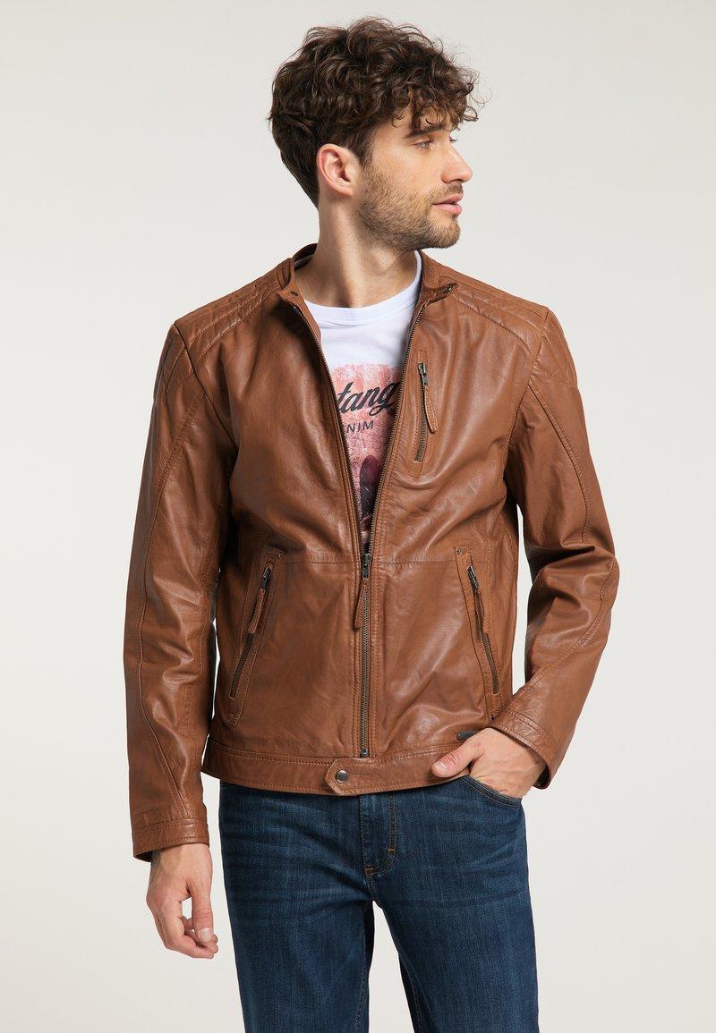 Mustang - Leather jacket - braun