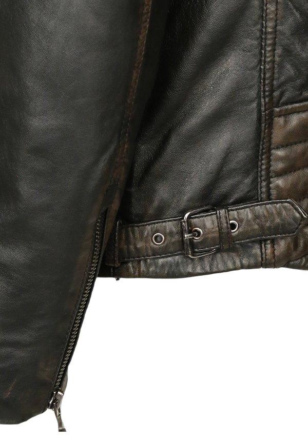 Mustang Kurtka skÓrzana - braun/ciemnobrązowy Odzież Męska DMSL