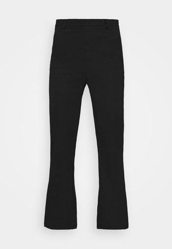 Kick Flare Punto Trousers - Trousers - black