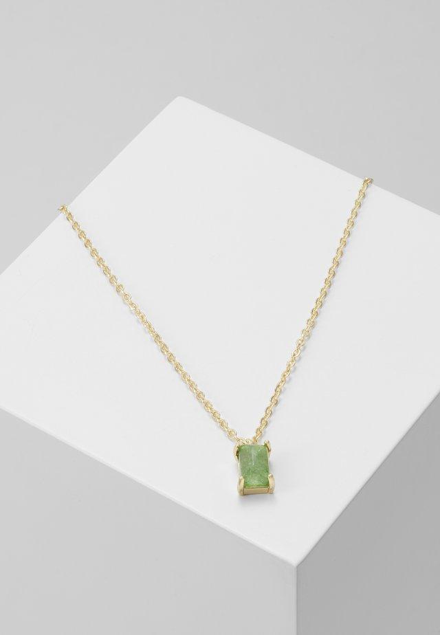 SMALL PENDANT NECK - Collana - gold-coloured/green