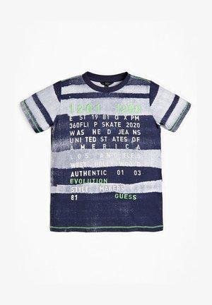 T-SHIRT IMPRIMÉ RAYÉ - T-shirt print - blue