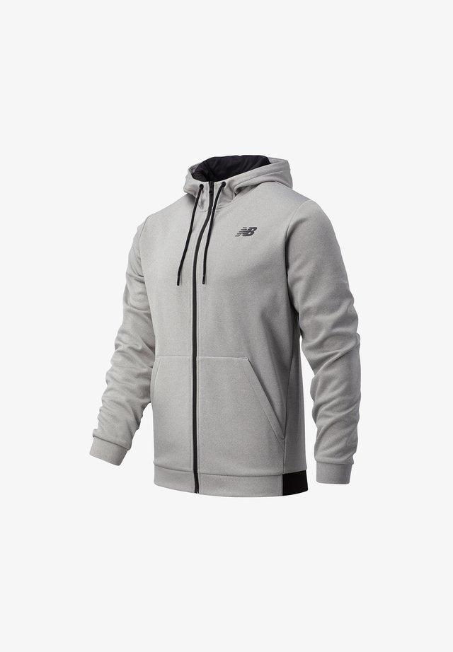 Hoodie met rits - athletic grey