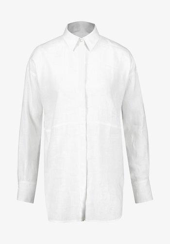 1/1 ARM LANGE - Button-down blouse - weiß/weiß