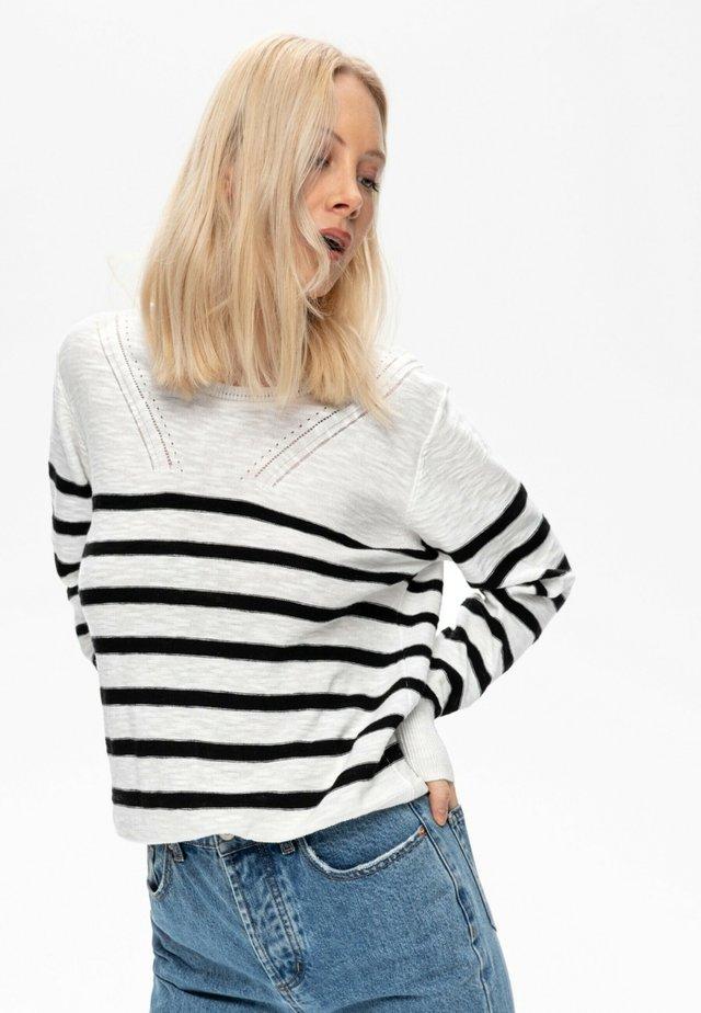 Pullover - rayé noir
