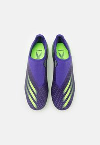 adidas Performance - X GHOSTED.3 FOOTBALL BOOTS FIRM GROUND - Moulded stud football boots - energy ink/signal green - 3