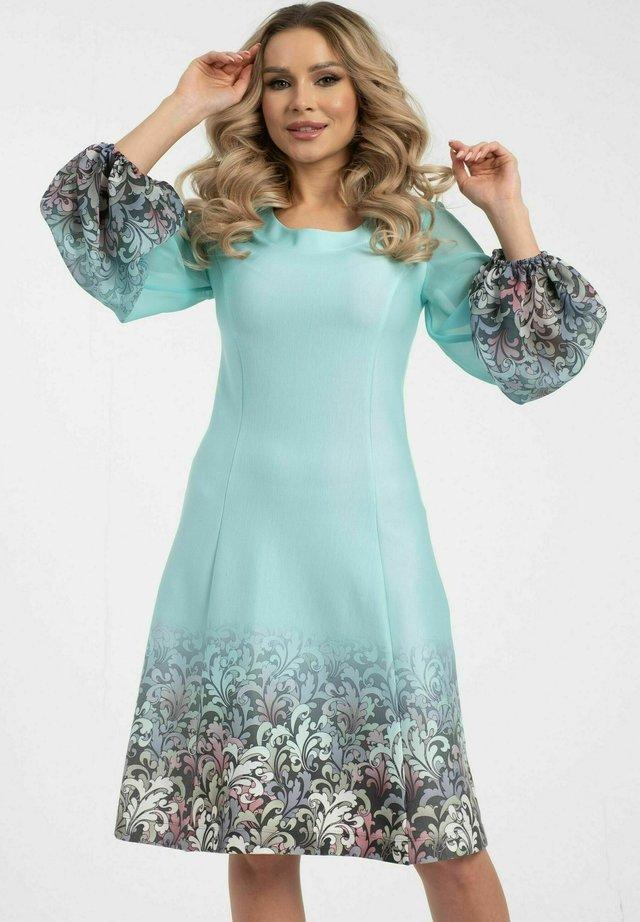 Korte jurk - türkisblau